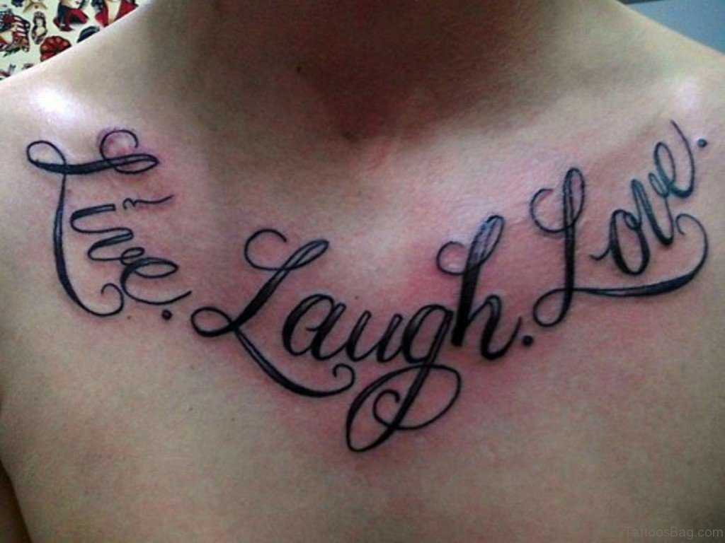 75 Adorable Wording Tattoos For Chest in measurements 1024 X 768