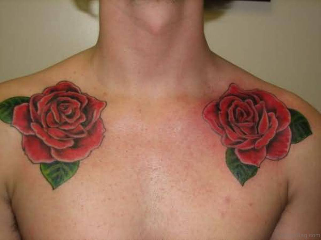 75 Pretty Flowers Tattoos On Chest inside measurements 1024 X 768
