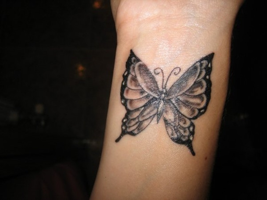 79 Beautiful Butterfly Wrist Tattoos pertaining to dimensions 1024 X 768