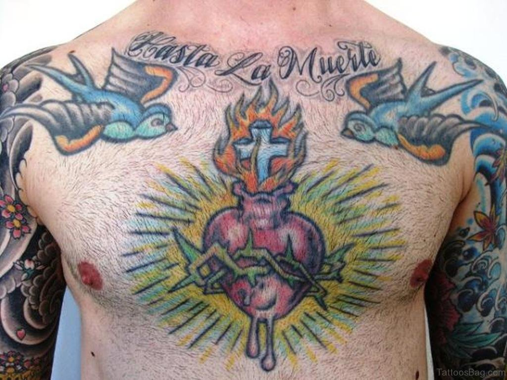 81 Mind Blowing Heart Tattoos On Chest with regard to size 1024 X 768