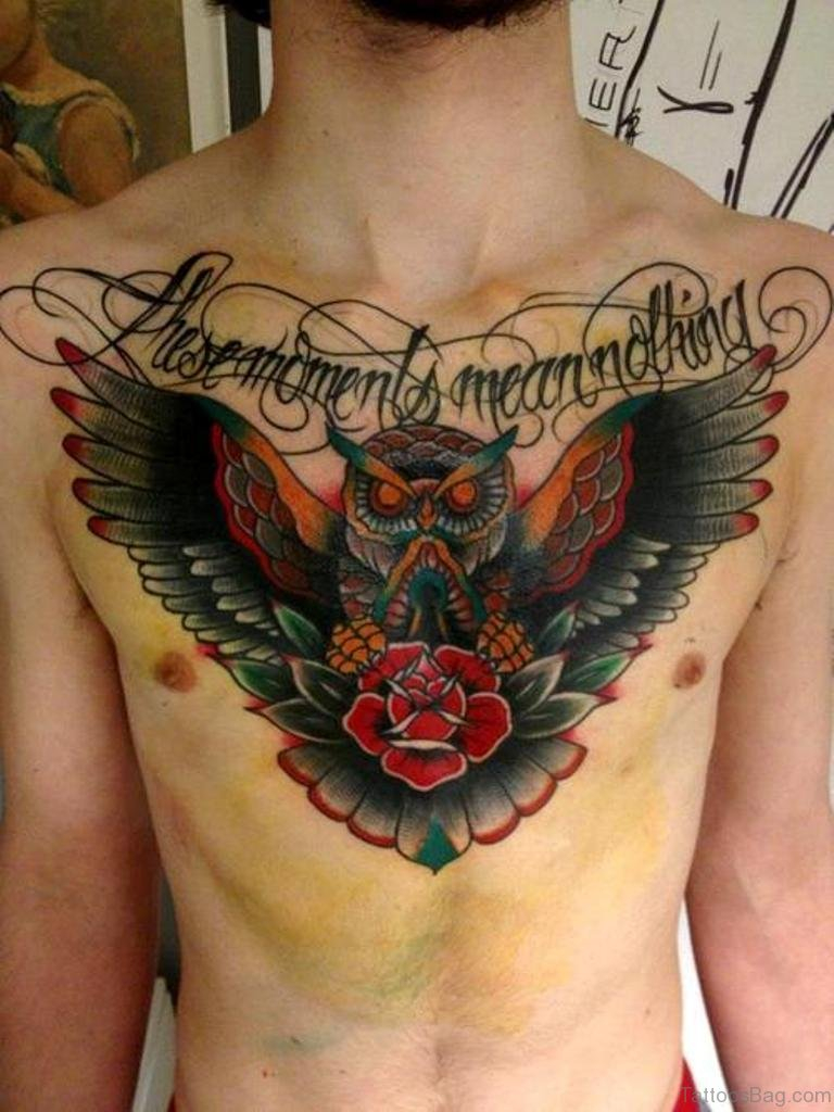 85 Mind Blowing Rose Tattoos On Chest intended for sizing 768 X 1024