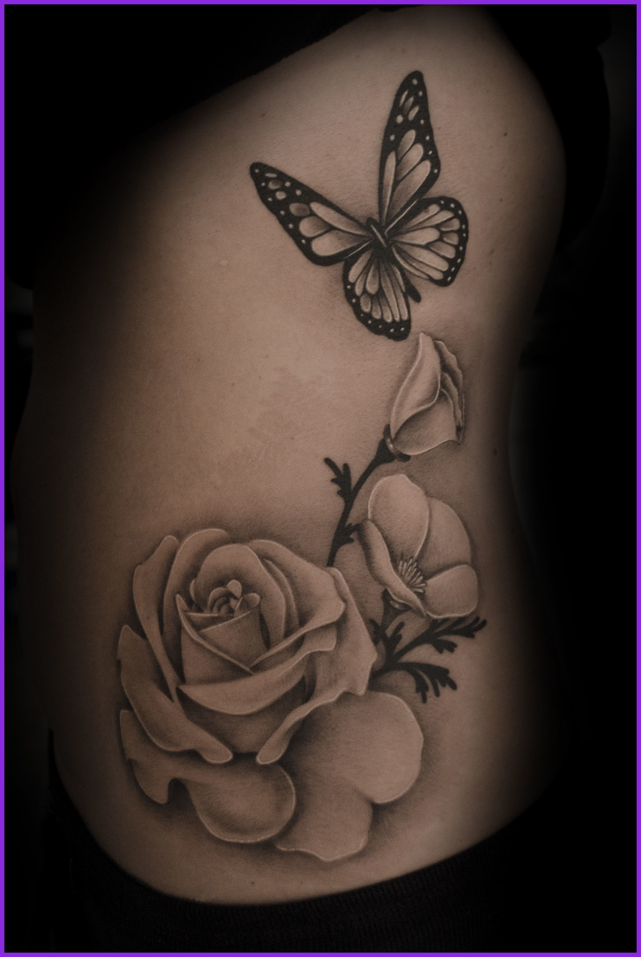 Afbeeldingsresultaat Voor Black And White Daisy Butterfly Tattoos intended for size 2237 X 3341
