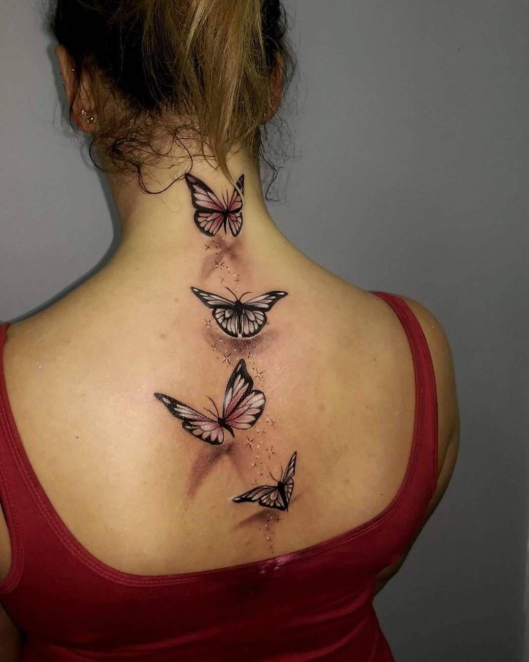 Amazing Butterfly Back Tattoo Tattoos Butte regarding sizing 1080 X 1350