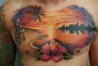 Amazing Sunset Chest Piece From Nicksundstromtattoos Sunset intended for sizing 1080 X 1080