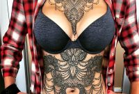 Attractive Chest And Stomach Tattoos Tattoos For Chicks Stomach with dimensions 1080 X 1080