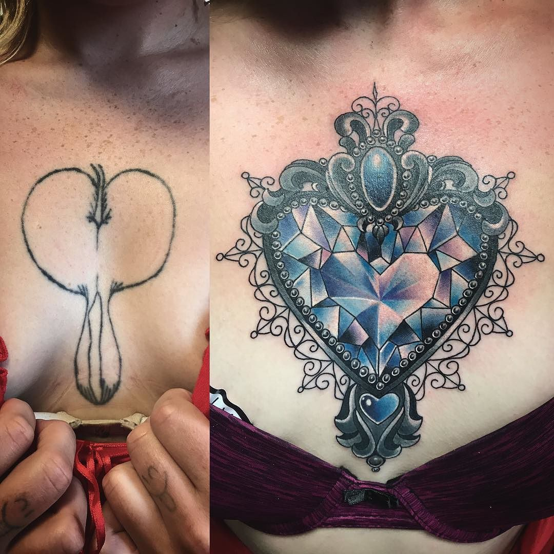 Before And After Chest Cover Up Tried To Make It As Small As regarding proportions 1080 X 1080