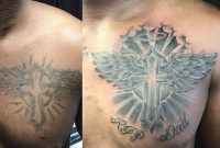 Before And After Chest Tattoo Recovery Fix Up Or Cover Up Cross regarding size 1080 X 1080