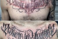 Believe In Yourself Chest Lettering Tattoo Tattoo Envy Tatuagem within sizing 1125 X 1100