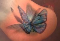 Blue 3d Butterfly Tattoo On Girl Back Shoulder Tattoos Realistic with regard to size 1920 X 1080
