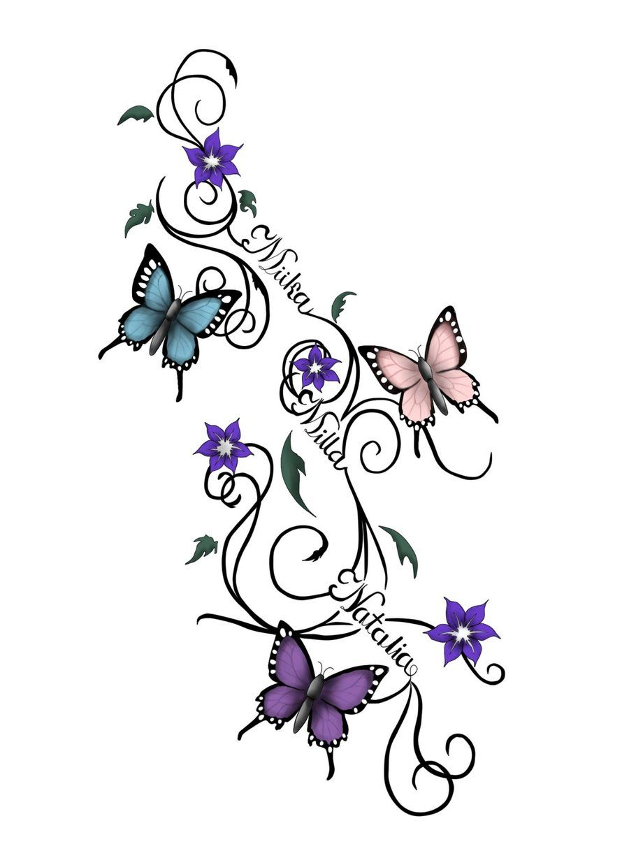 Butterfly And Flower Tattoo Designs Butterflies Tattoo within size 900 X 1238