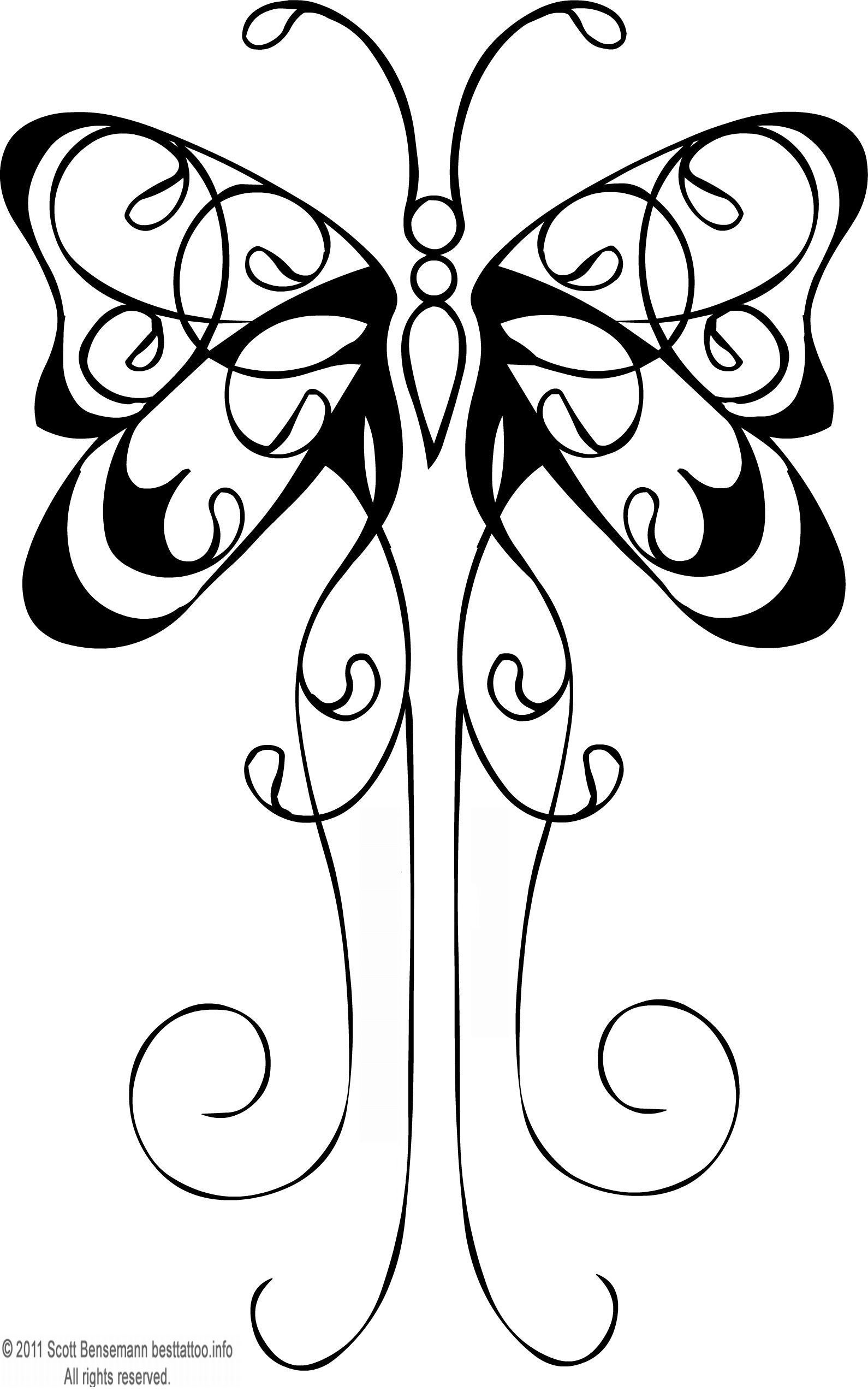 Butterfly Tattoo Flash Black Outline 1590x2558 Pixel Wallpaper in dimensions 1590 X 2558