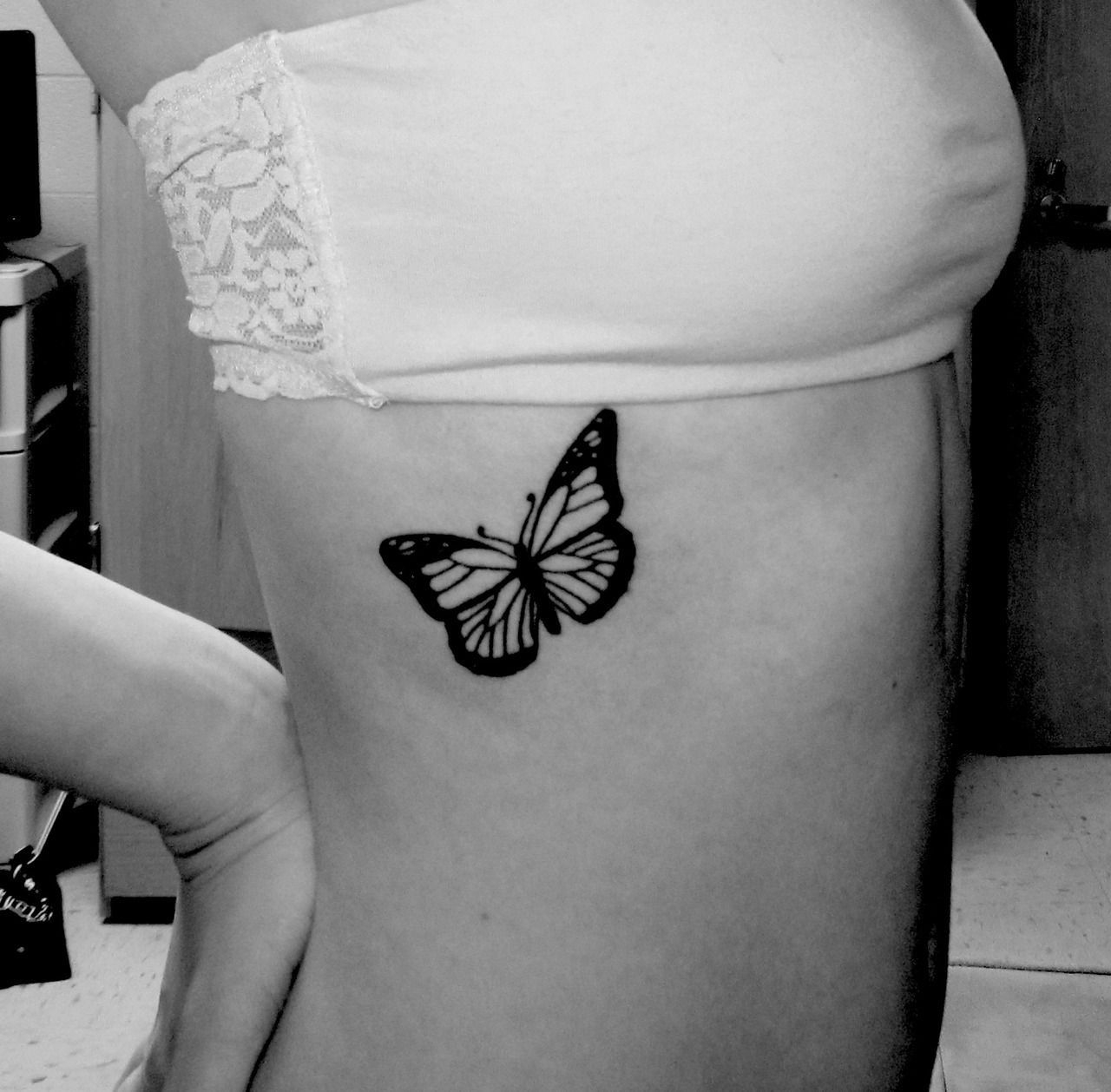 Butterfly Tattoo Great For Ribs Or Thigh Possibilities Tattoos with size 1280 X 1258