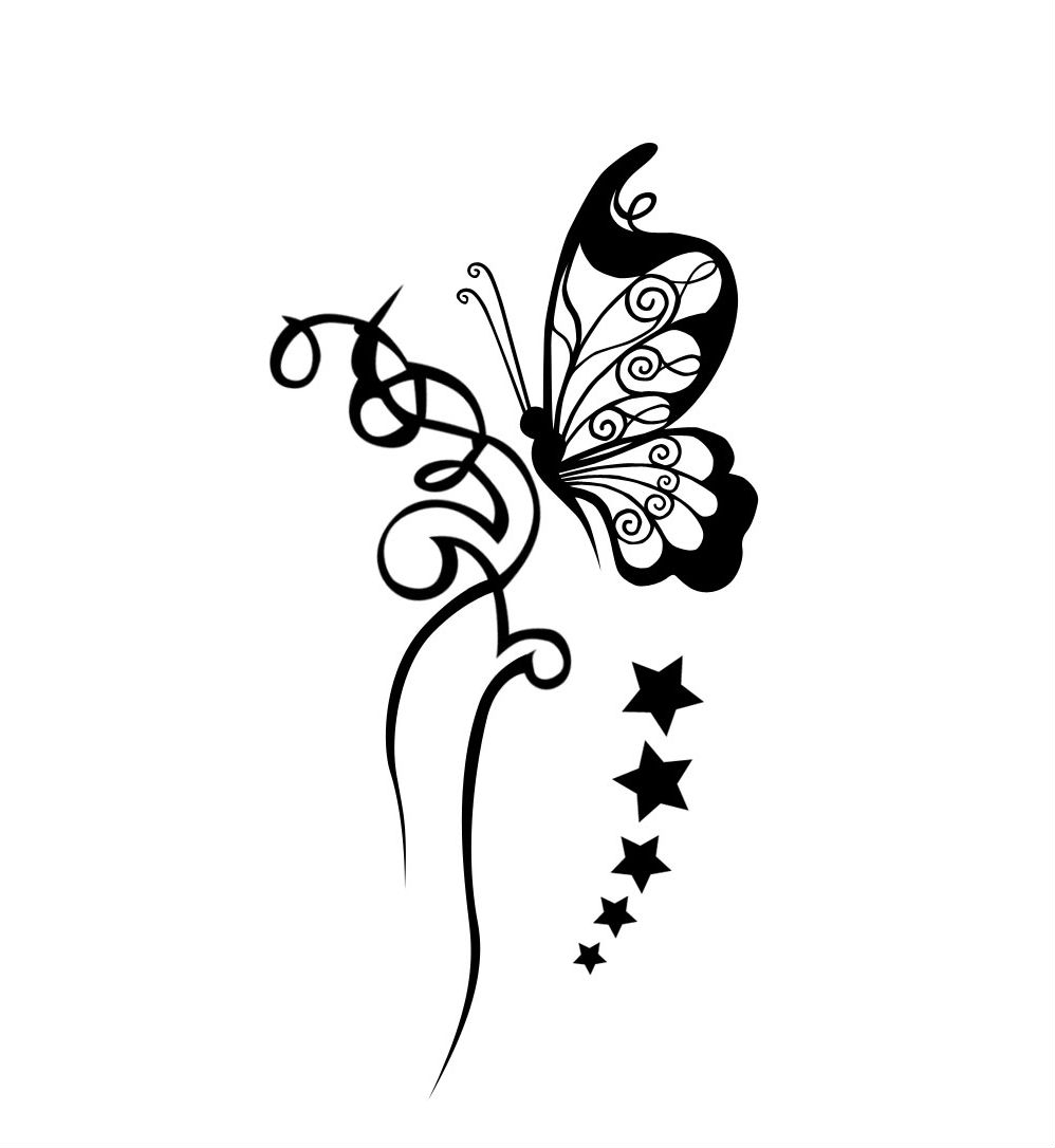 Butterfly Tattoos Tattoos Library within size 998 X 1086