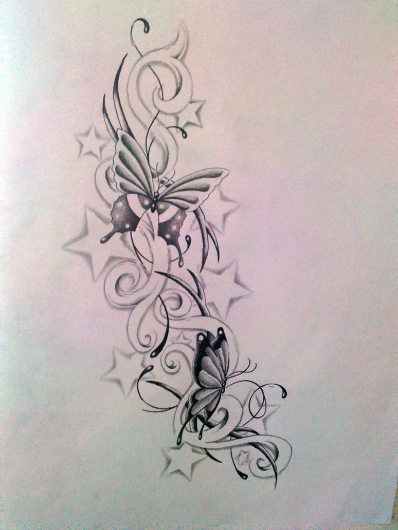 Butterfly With Stars Tattoo Designs Butterfly And Stars within measurements 774 X 1032