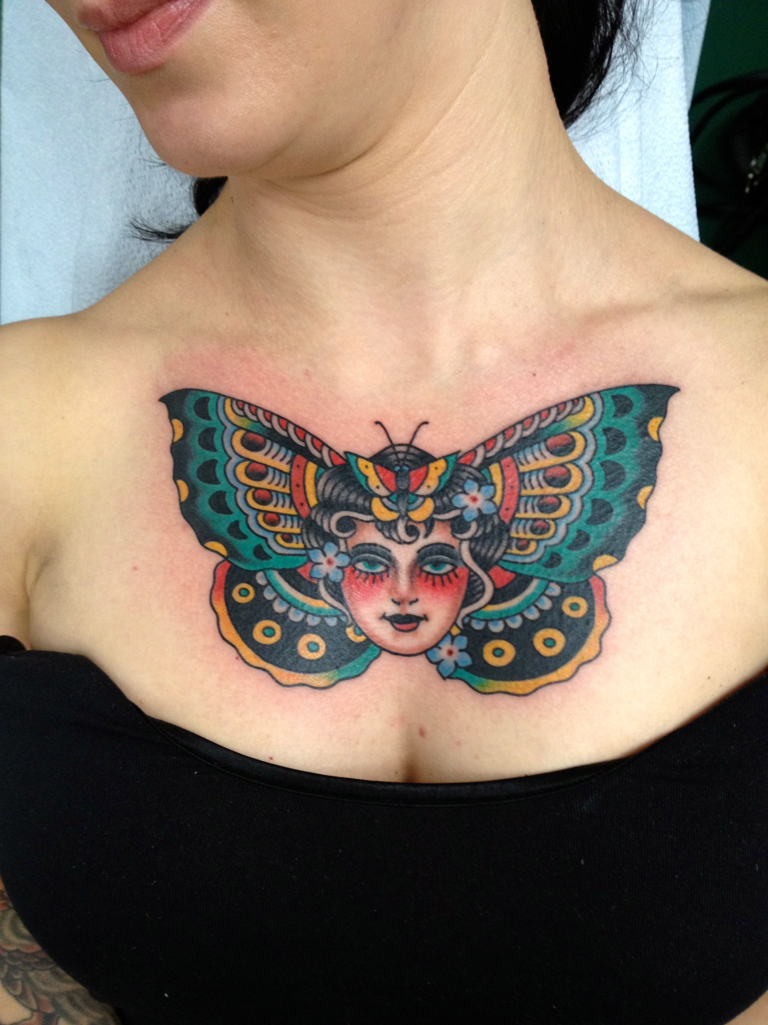 Butterfly Woman Tattoo Tattoo Art Chest Tattoos For Women with proportions 2448 X 3264