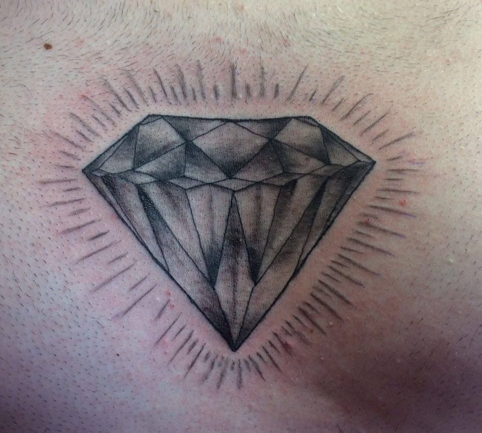 Chest Piece Diamond Grey Diamond Men With Tattoos Mens Chest with regard to dimensions 960 X 862