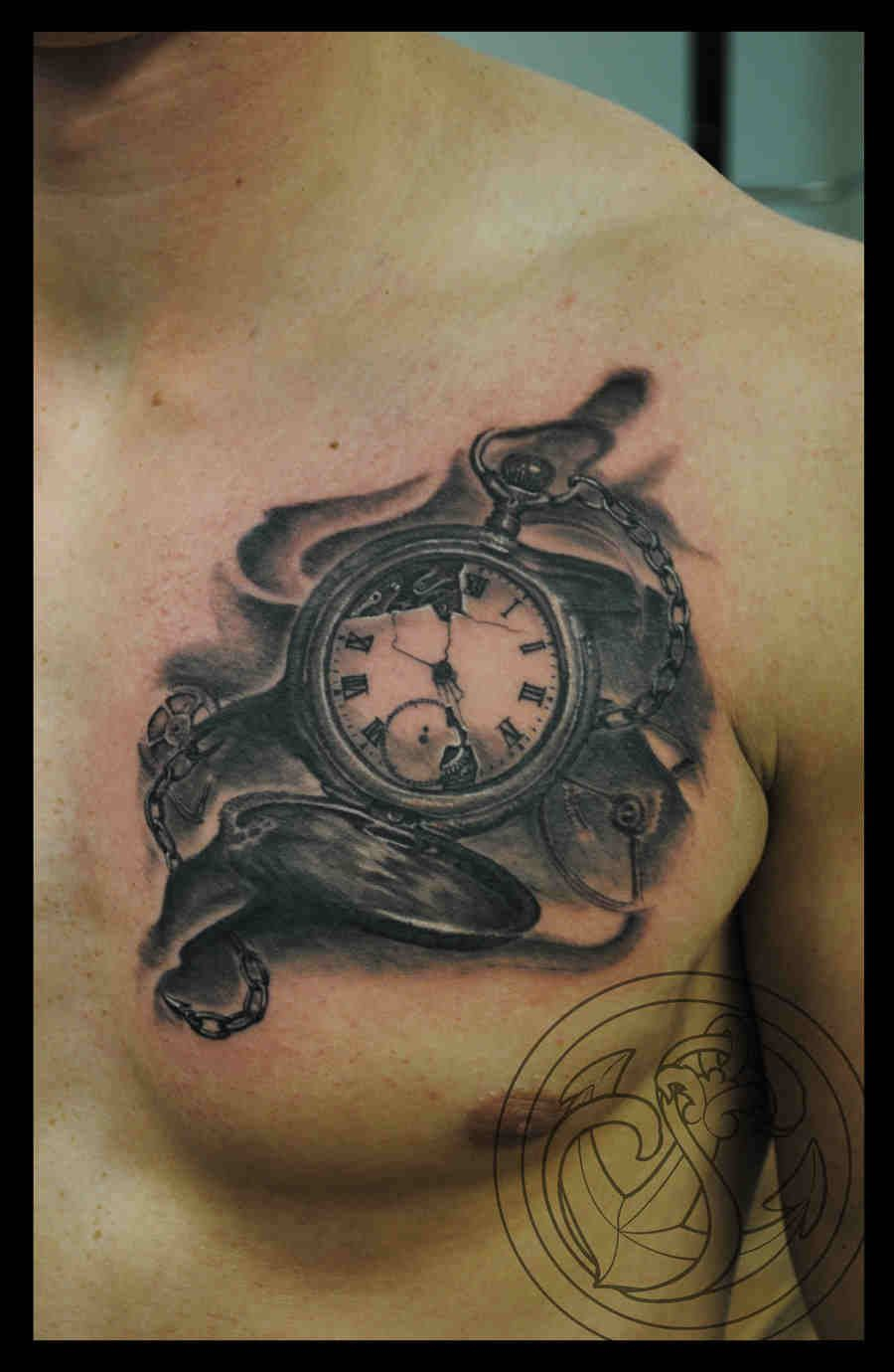 Chest Tattoo Projects To Try Pocket Watch Tattoos Watch Tattoos throughout sizing 900 X 1380