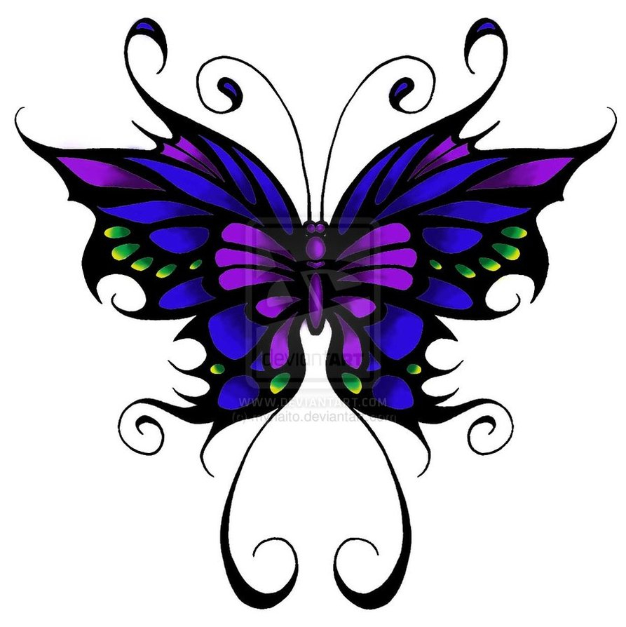 Colorful Butterfly Tattoo Design Myra Naito with dimensions 893 X 894
