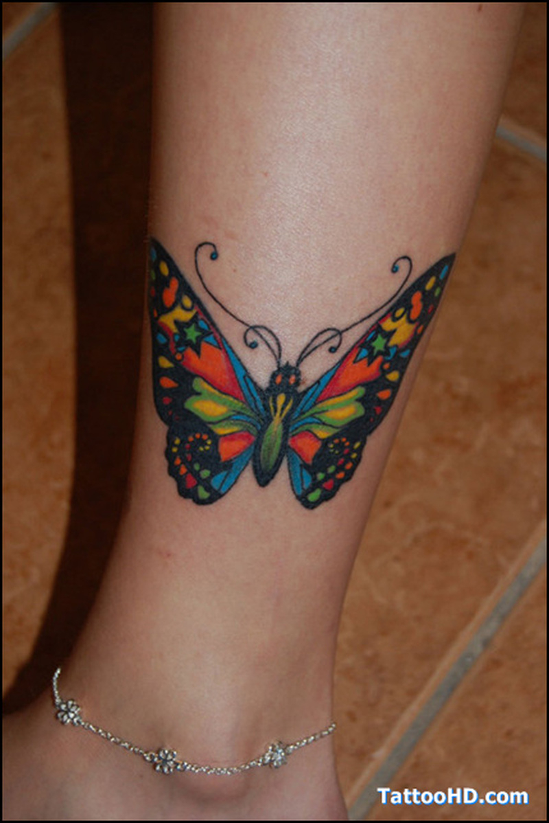 Colorful Butterfly Tattoo On Leg Tattoos Book 65000 Tattoos Designs with regard to dimensions 800 X 1198