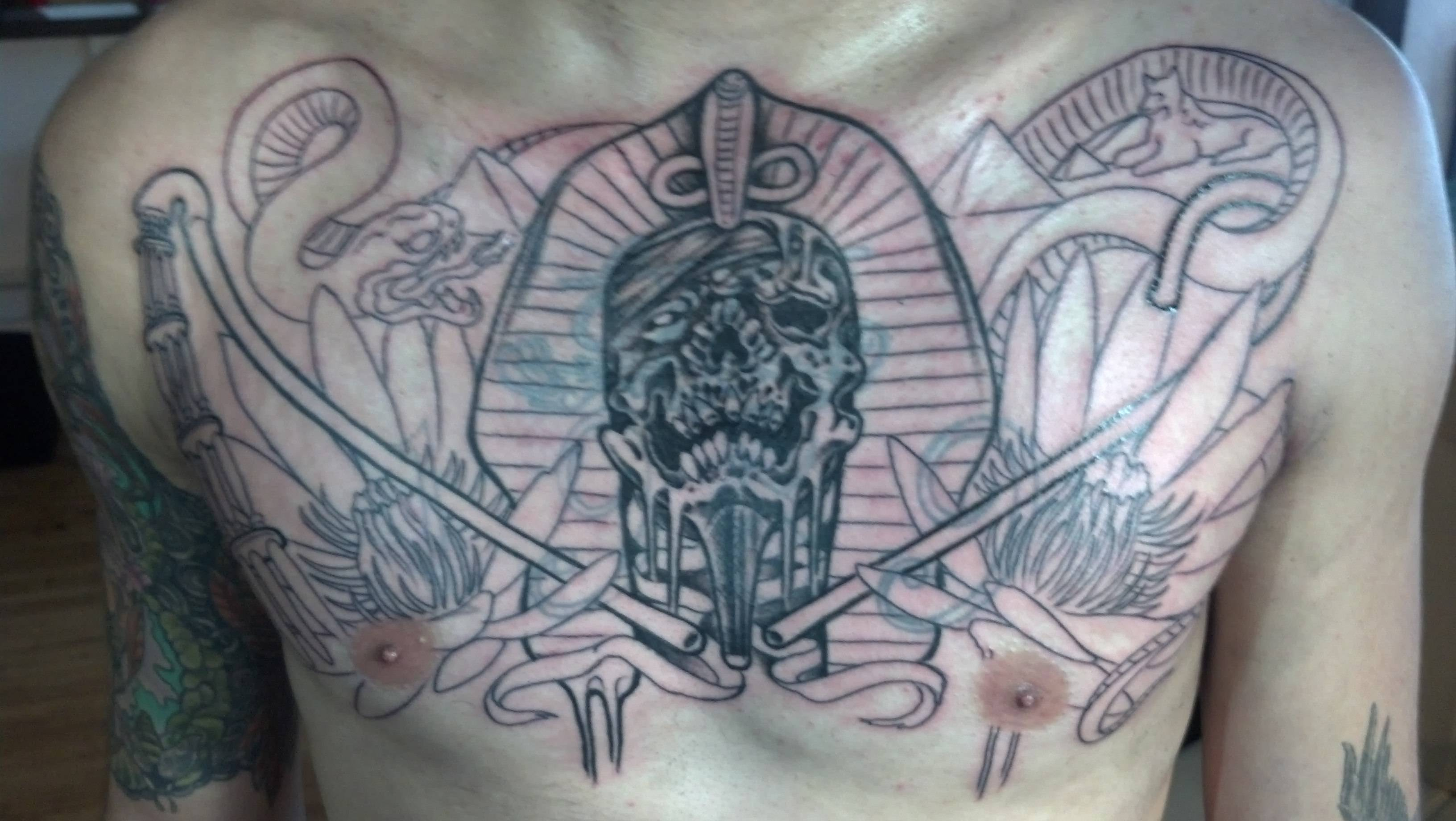 Cover Up Egyptian Chest Piece Pt 1 Savage Vanilla Gorilla intended for dimensions 3264 X 1840