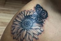 Daisy And Butterfly Tattoo Audrey Mello My Art Butterfly With inside proportions 1536 X 2048