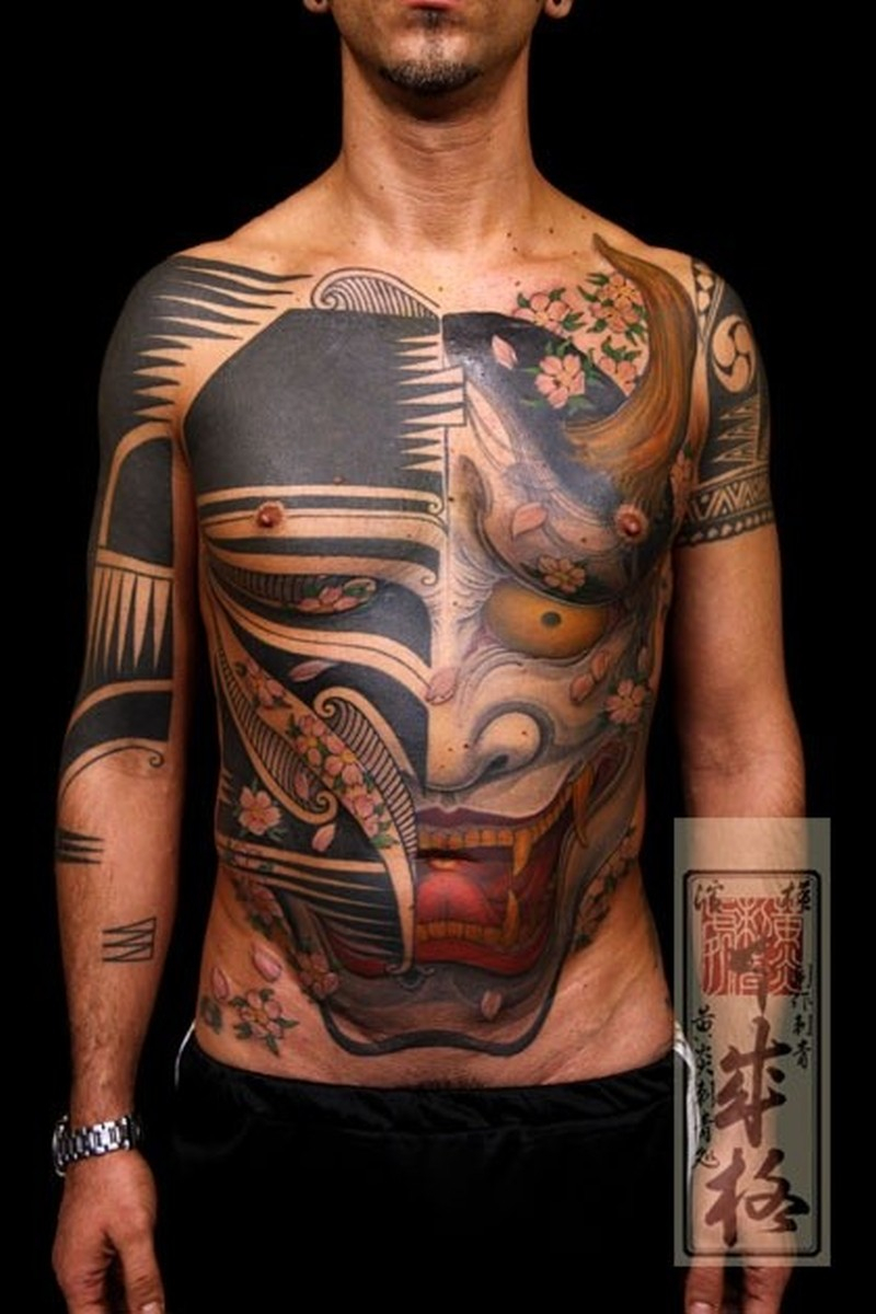 Demon Tattoo On Stomach And Chest Tattoos Book 65000 Tattoos with regard to size 800 X 1200