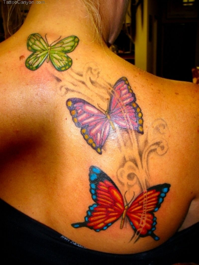 Designs Butterfly Tattoo For Women On Upper Back Picture 11919 with regard to dimensions 800 X 1067