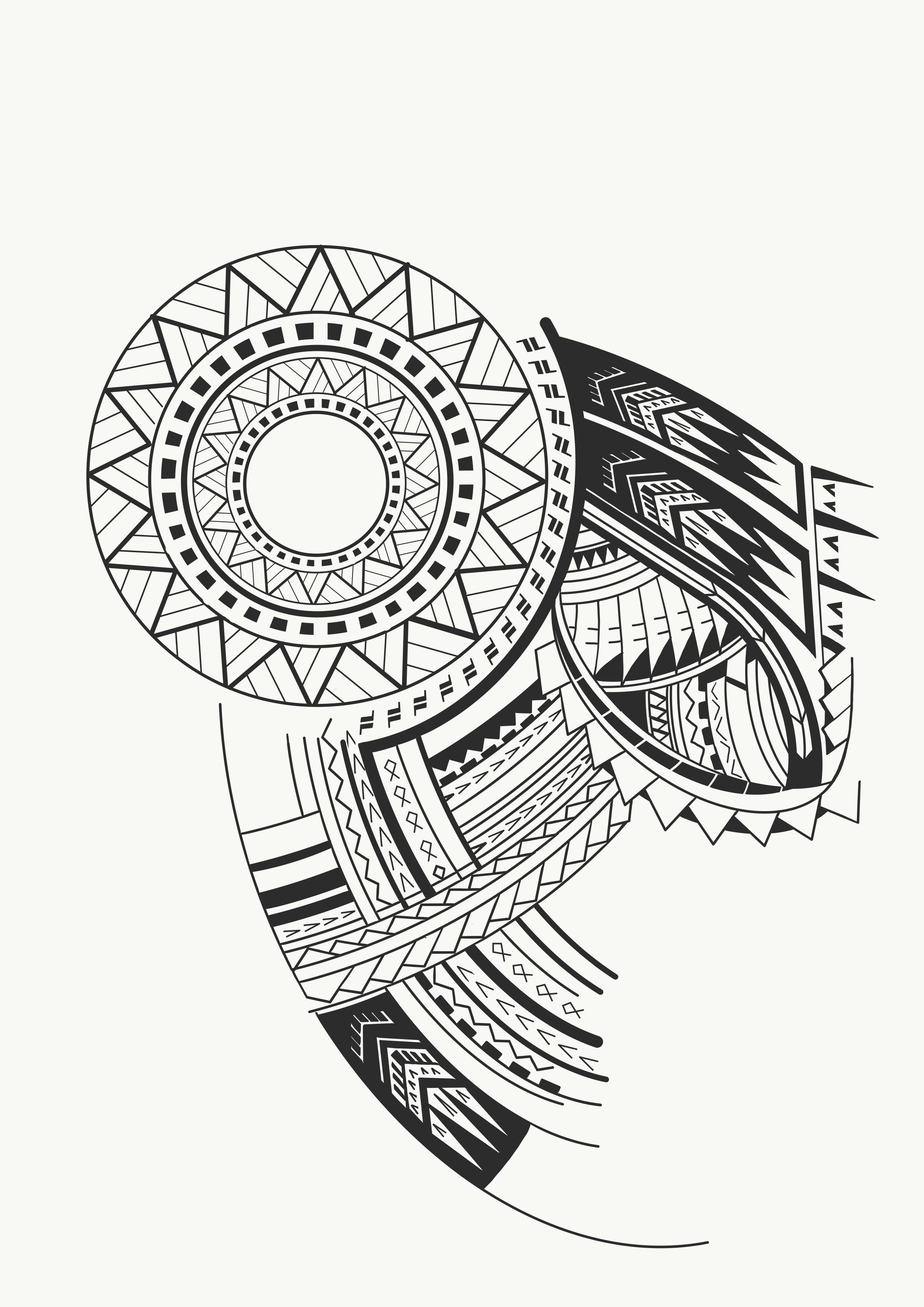Details About Maori Polynesian Samoan Shark Warrior Full Sleeve with measurements 2480 X 3508