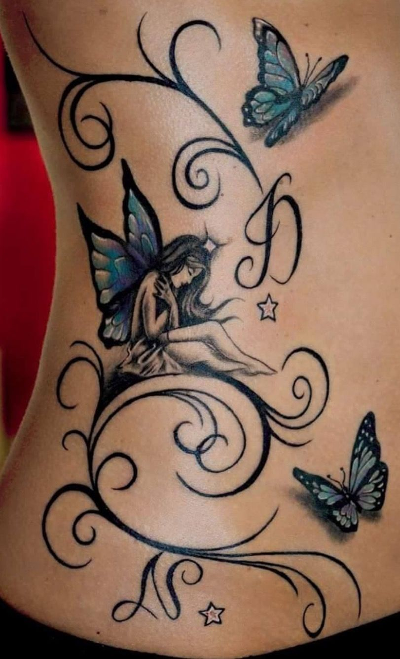 Fairy And Butterflies Tattoos Tattoos Pixie Tattoo Fairy throughout proportions 811 X 1334
