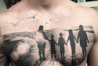 Family At The Beach Mens Chest Piece Best Tattoo Design Ideas regarding size 1080 X 1080