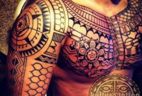 Filipino Tribal Tattoo This Chest And Full Sleeve Is An Amazing inside measurements 1024 X 1024