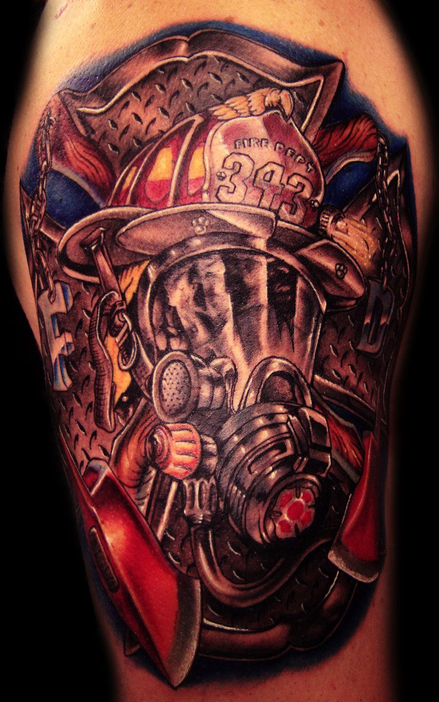 Firefighter Tattoo I Would Only Get One For My Brother And Cousin with regard to dimensions 900 X 1438