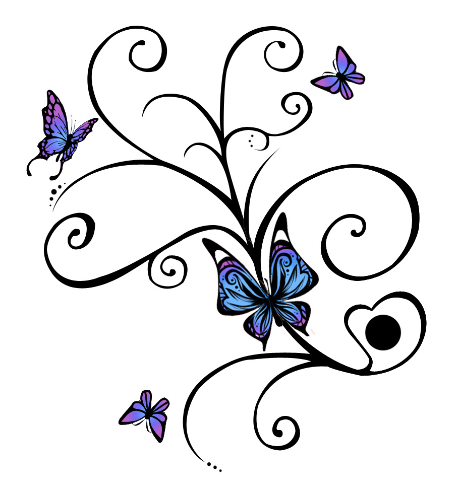 Free Butterfly Tattoo Designs To Print Clip Art Library with regard to dimensions 906 X 987