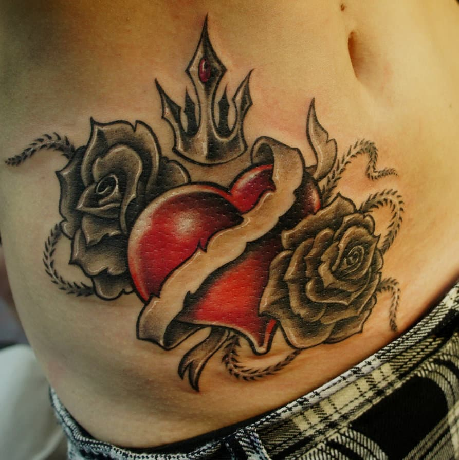 Heart Tattoos For Men Design Ideas For Guys in size 893 X 895