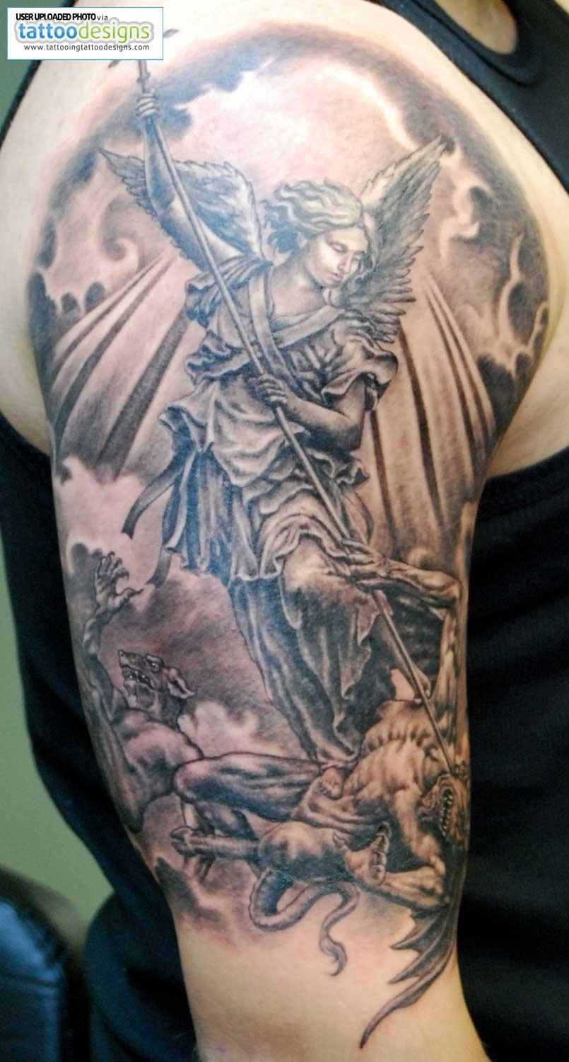 Higher Resolution Angel Tattoos St Michael Tattoo Tats Angel in size 805 X 1500