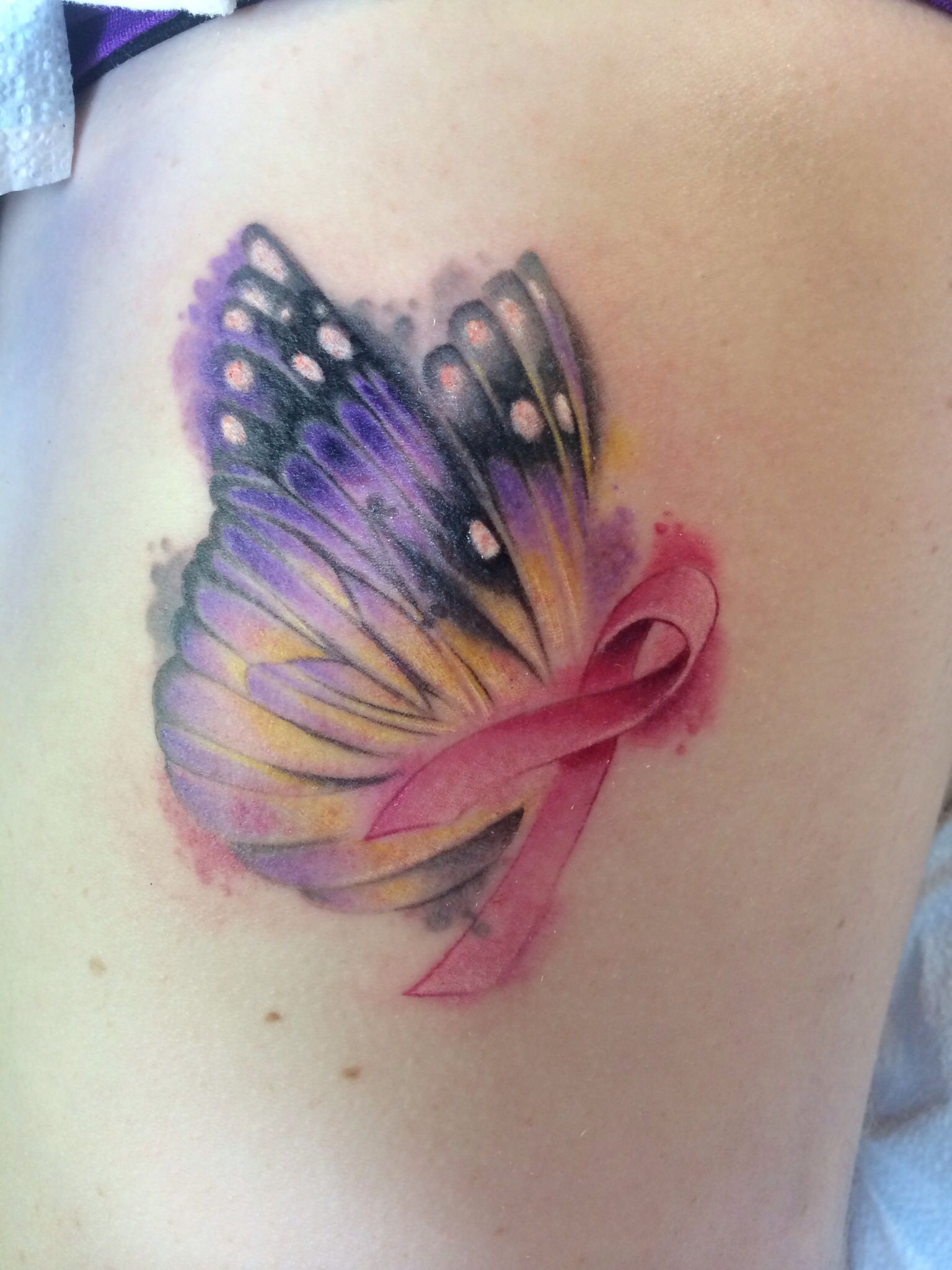 Breast cancer butterfly tattoo images