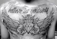 Insane Diamond Chest Tattoo Tattoos Chest Piece Tattoos Diamond for proportions 1024 X 768