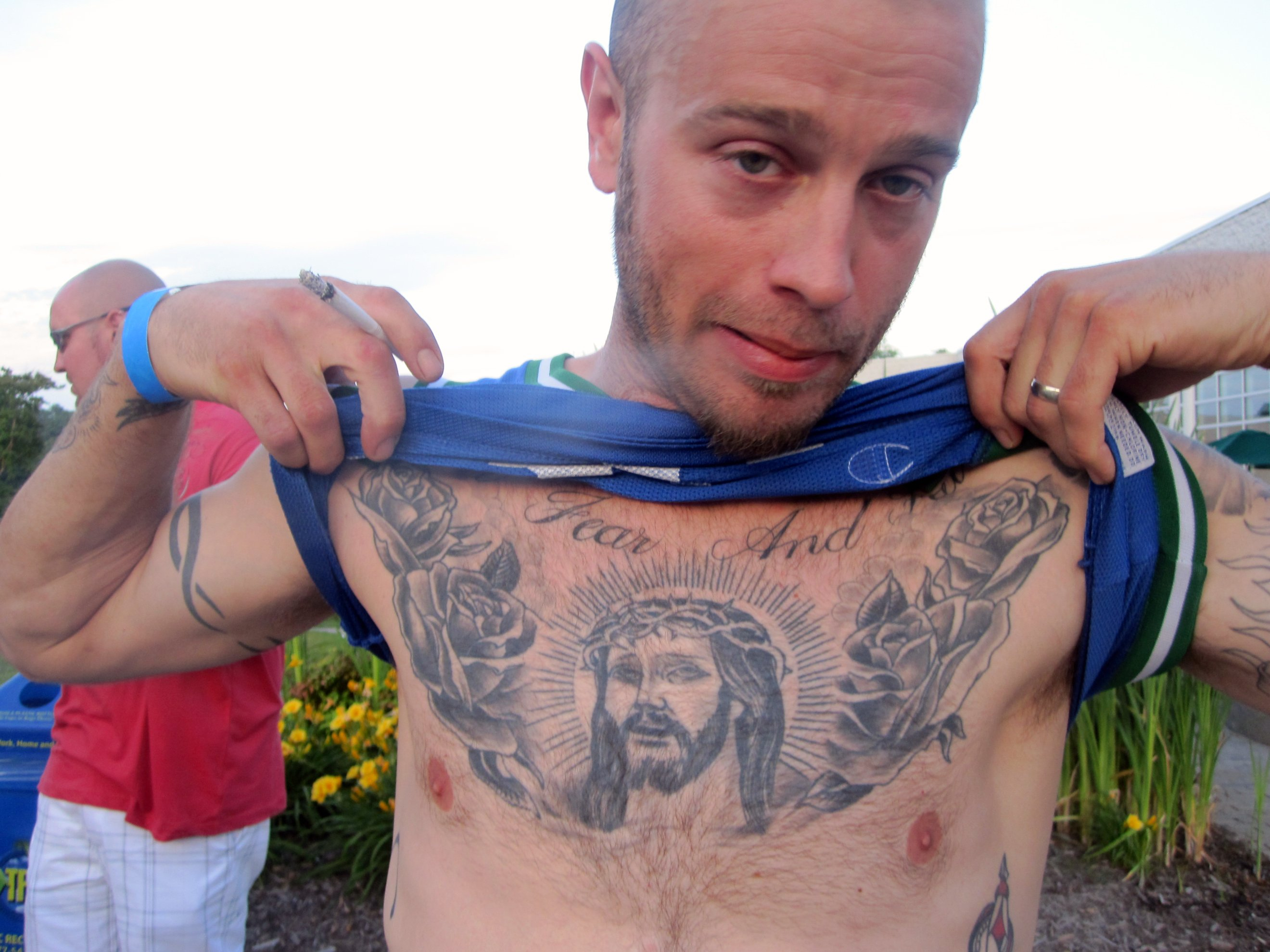Integratr Body Tattoo Ideas Jesus Chest regarding sizing 2640 X 1980