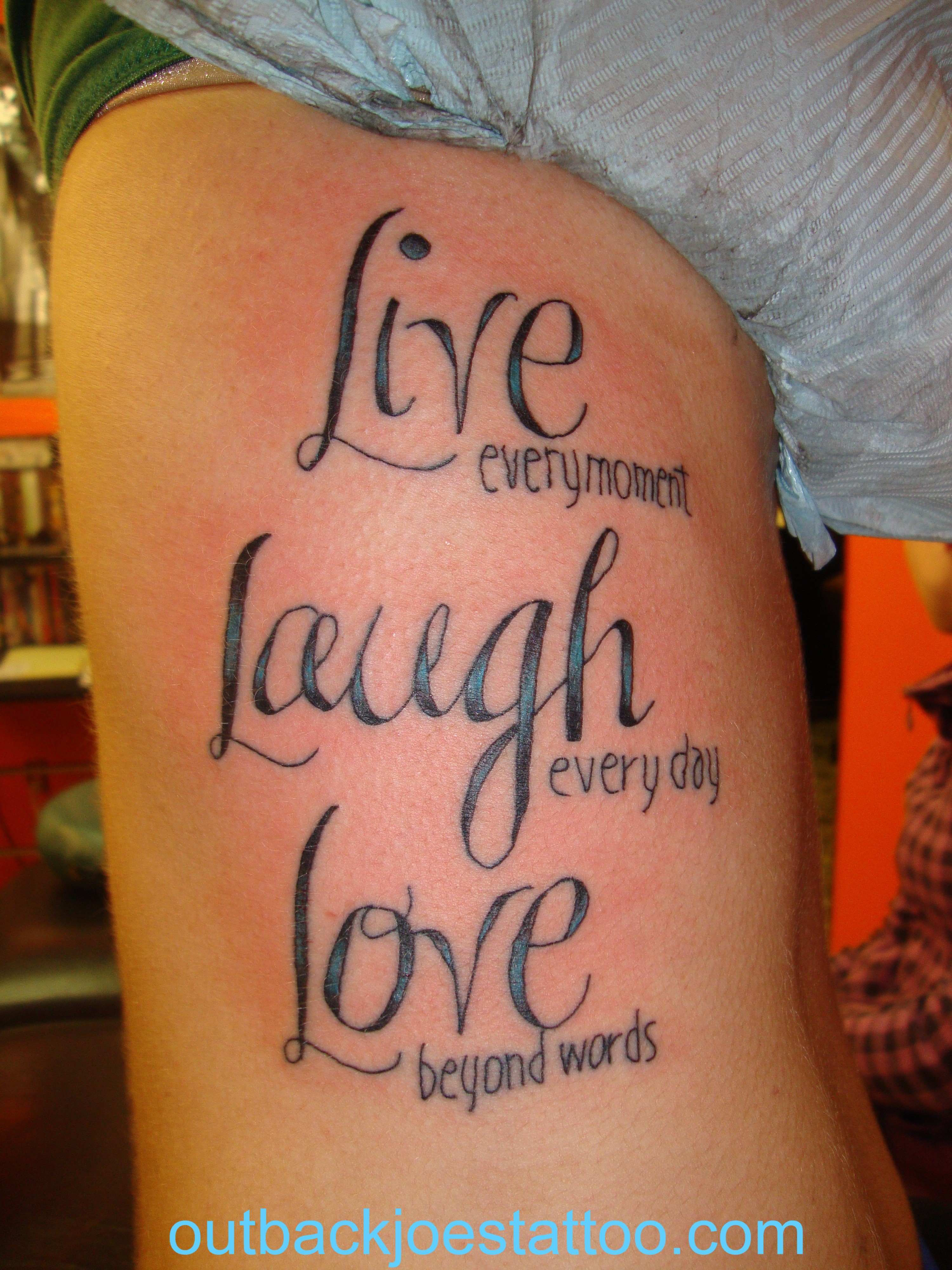 Live Laugh Love Tattoo For Women in size 3000 X 4000