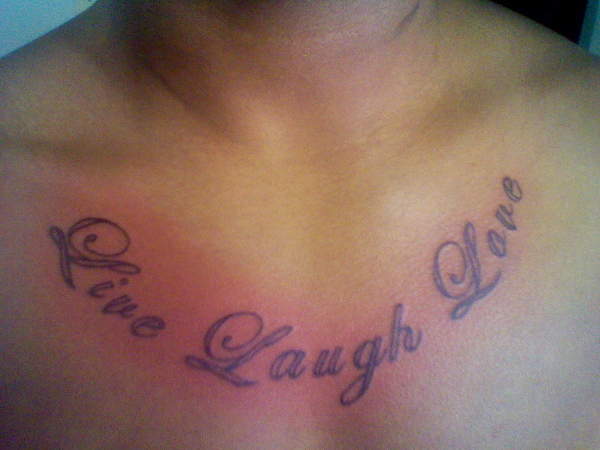 Live Laugh Love Tattoos Designs Ideas And Meaning Tattoos For You within sizing 2048 X 1536