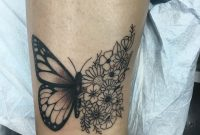 Love My New Butterfly Flower Tattoolooks Perfect On My Ankle inside size 3024 X 4032