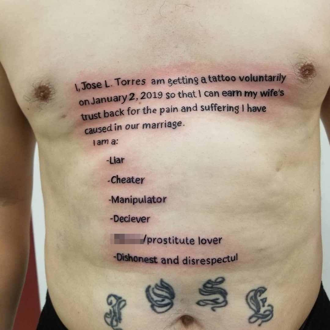Man Tries To Earn Wifes Trust Back Getting Huge Chest Tattoo with regard to measurements 1080 X 1080