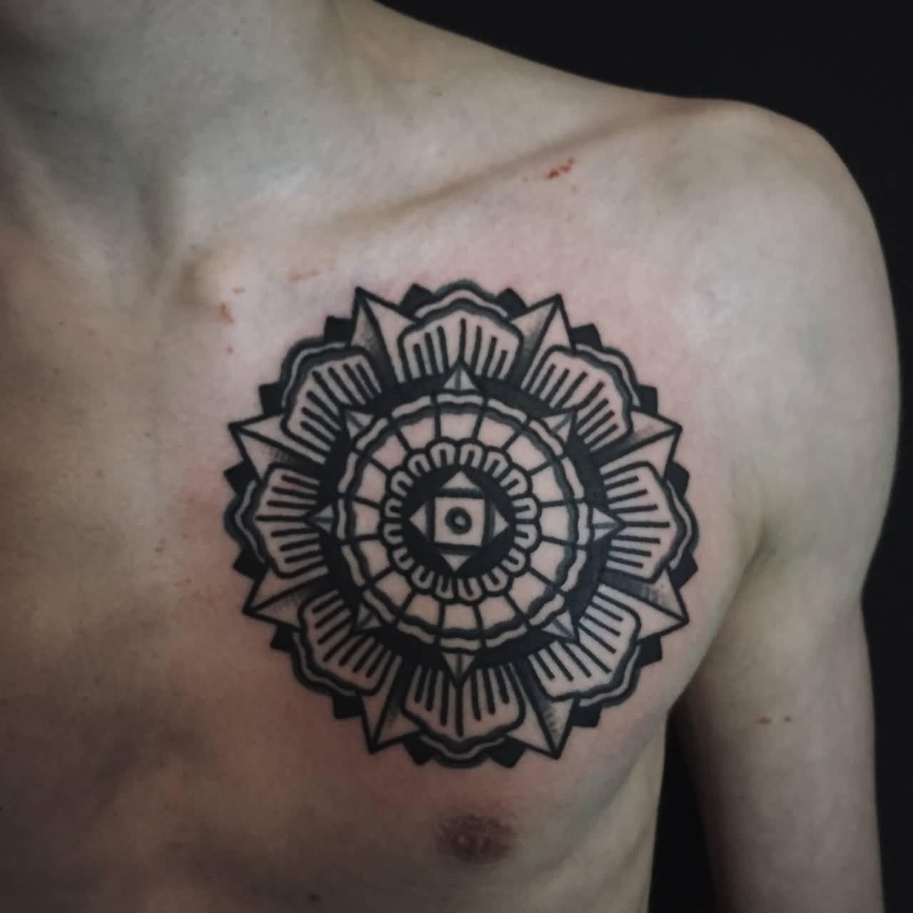 Mandala Chest Tattoo 16 Crearphpnuke in proportions 1280 X 1280