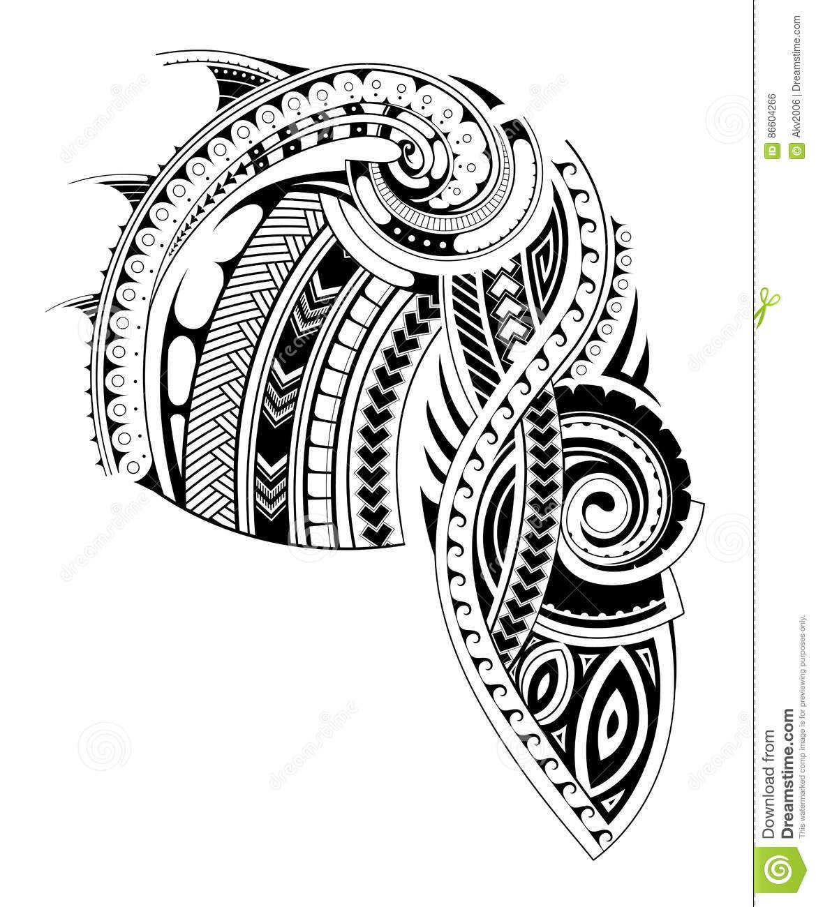Maori Chest Tattoo Stencil for dimensions 1169 X 1300