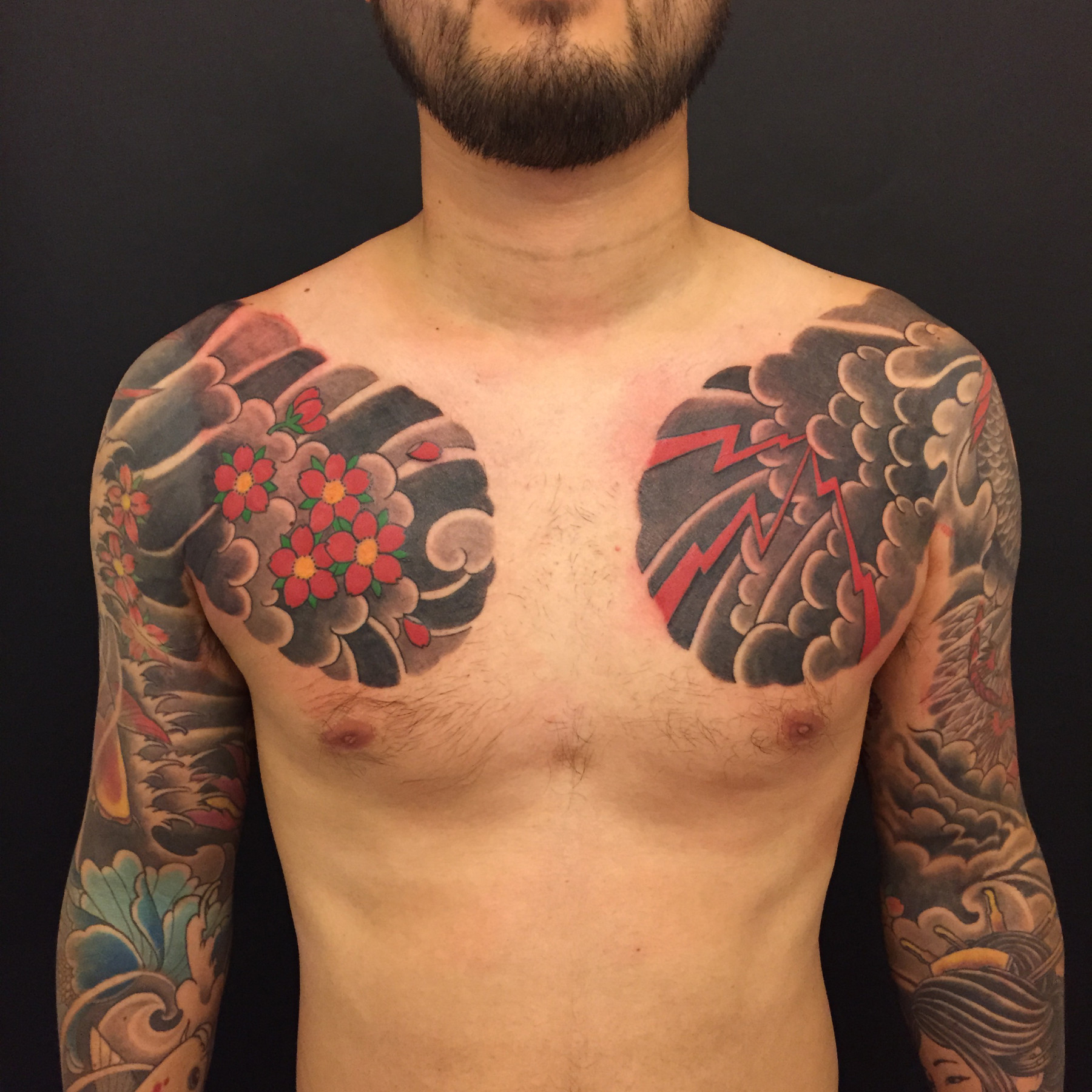 Men Show Japanese Chest Tattoos Golfian intended for dimensions 1800 X 1800