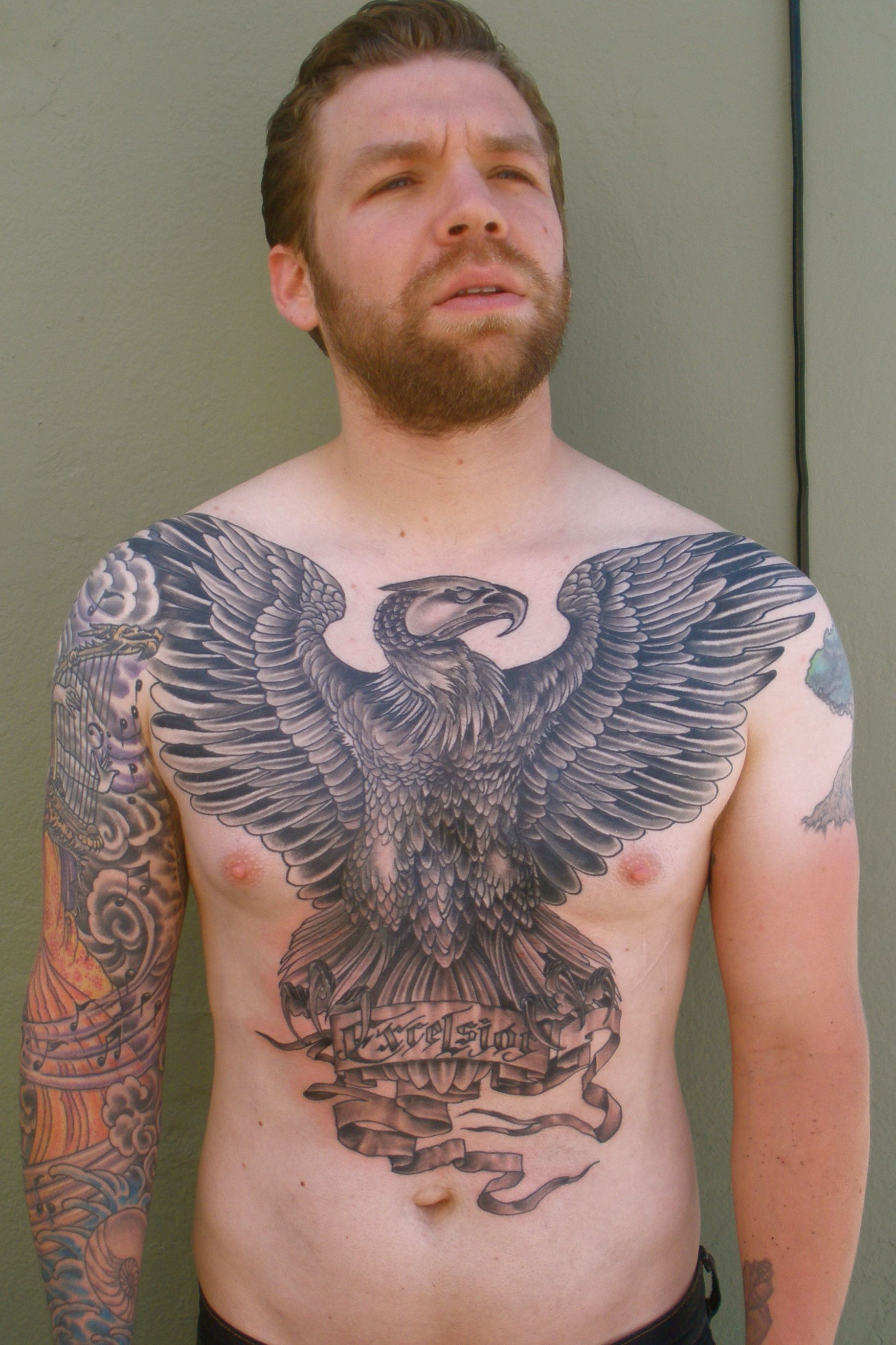 More Tattoo Images Under Eagle Tattoos Large Chest Tattoos with regard to sizing 1832 X 2750