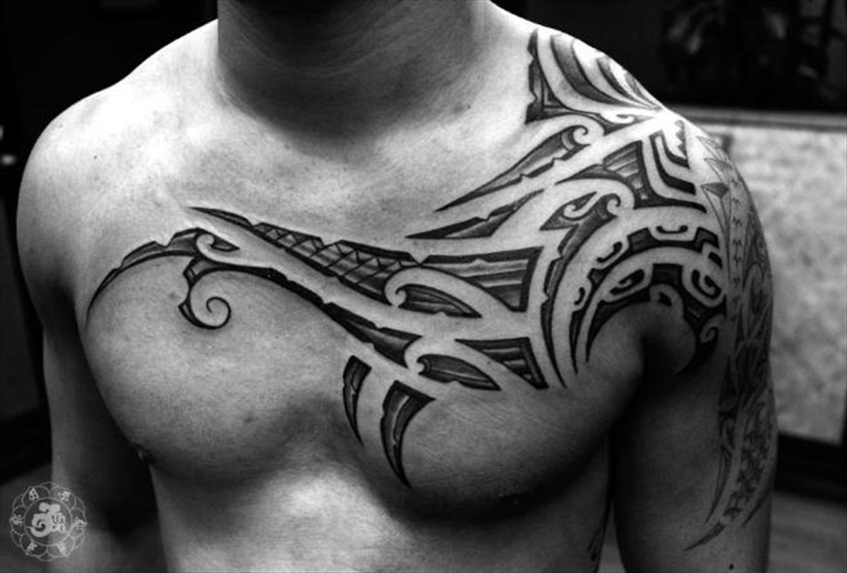 Mysicktattoos On Tattoo Designs Tribal Chest Tattoos Tribal with regard to sizing 1200 X 812