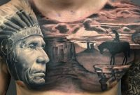 Native American Chest Piece Award Winning Surrealistic Sanctuary in size 2839 X 2839