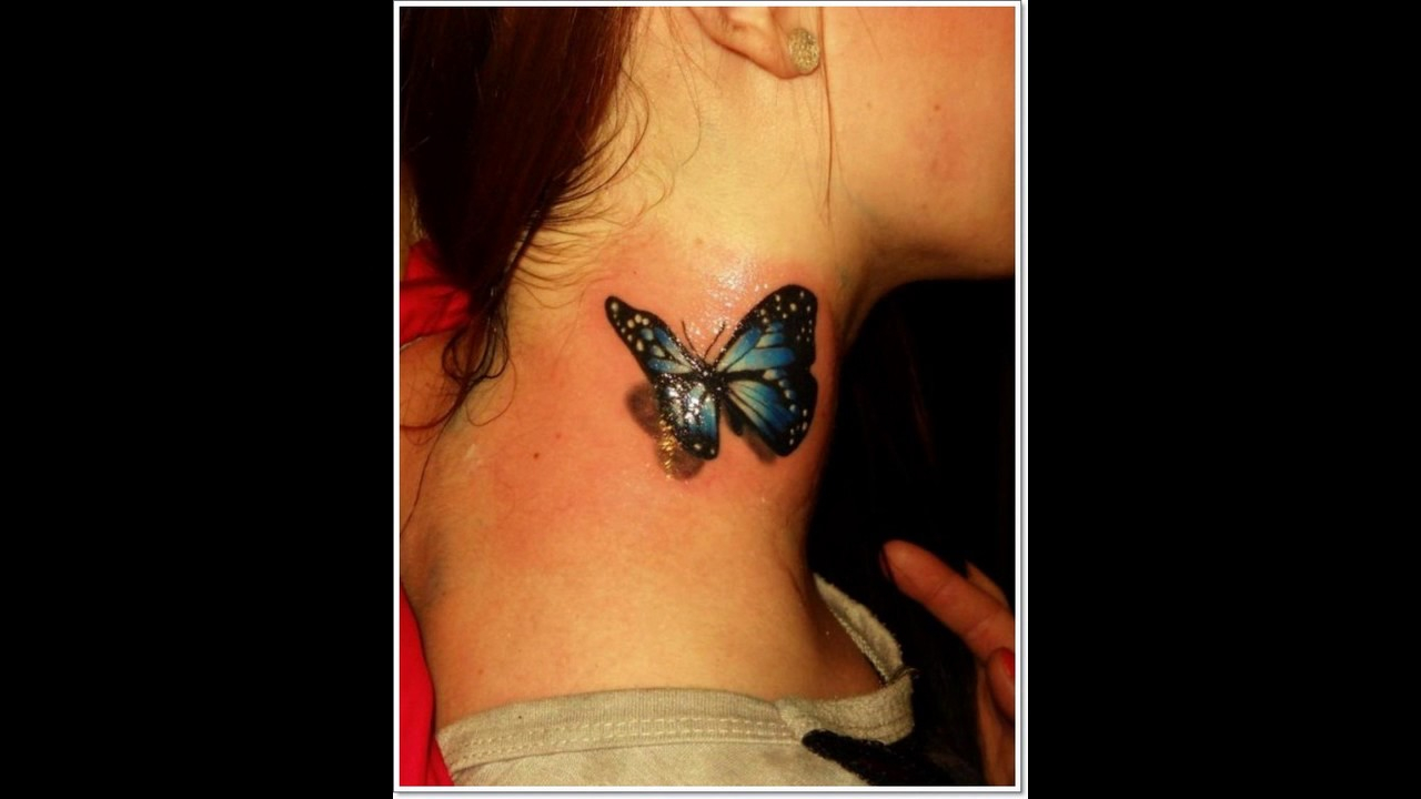 Neck Tattoo Butterfly Star Rose Ideas in proportions 1280 X 720