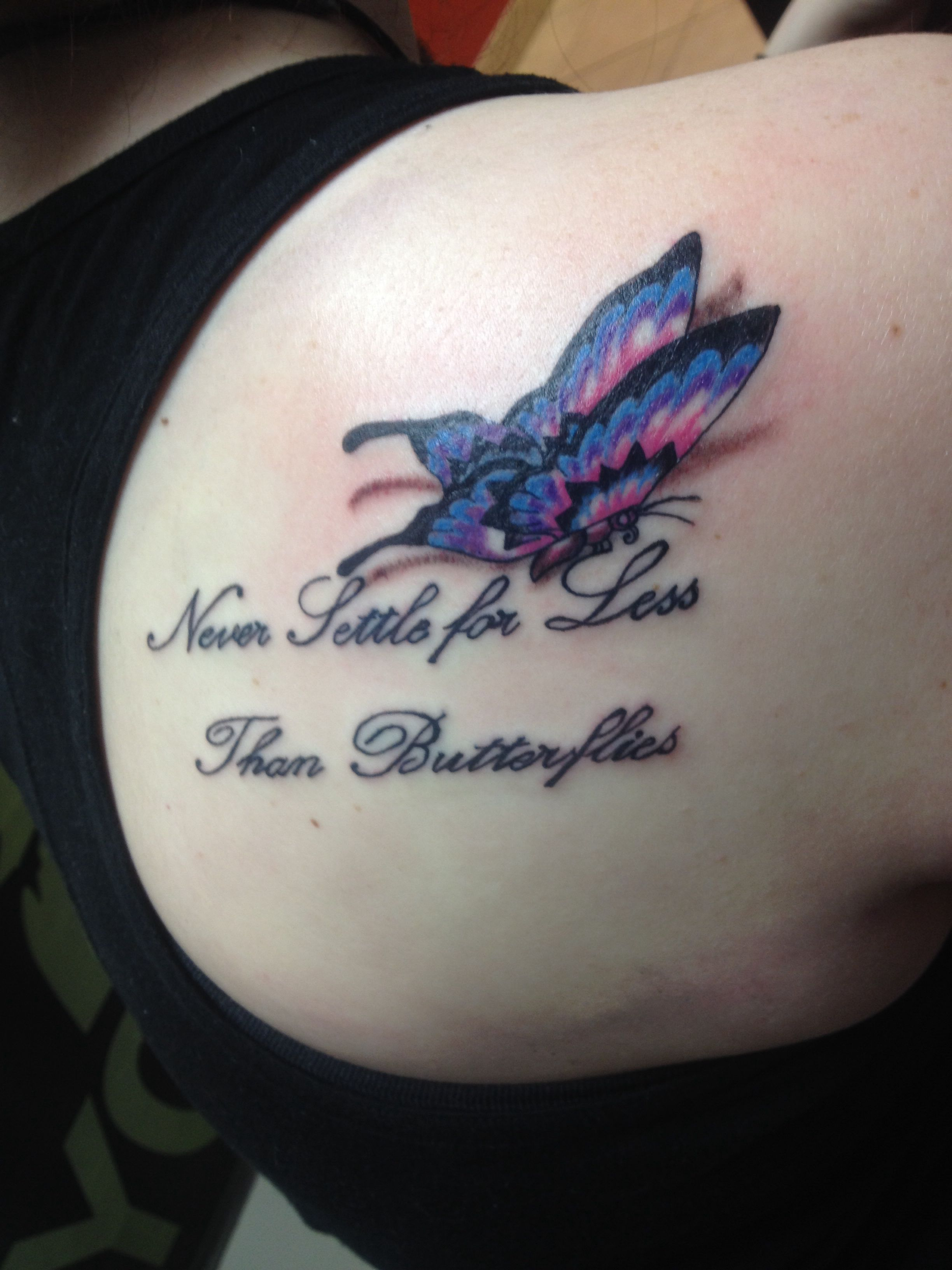 Never Settle For Less Than Butterflies Tattoo Likes Tattoos regarding dimensions 2448 X 3264